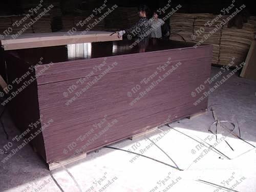 Ламинированная фанера, используется толщина 9-18мм